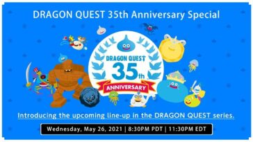 Dragon Quest 35th Anniversary définit la diffusion en direct du 26 mai