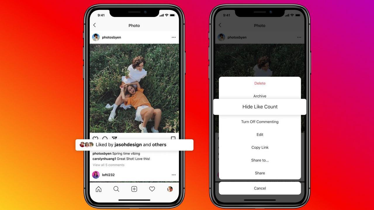 Les utilisateurs d'Instagram peuvent niw se cacher comme des comptes sur leurs publications.  Image: Instagram