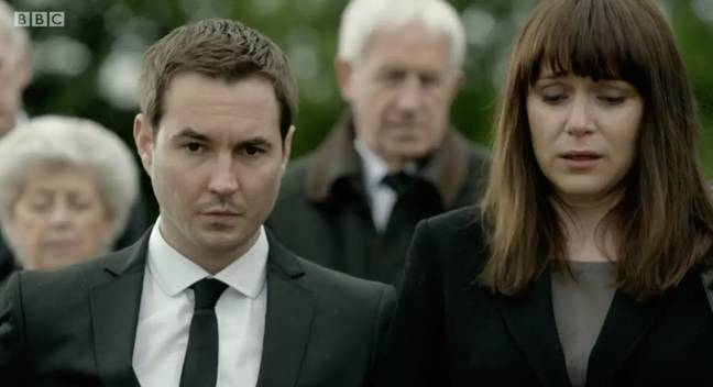 Martin a accidentellement gâché le retour de Lindsay Denton.  Crédit: BBC