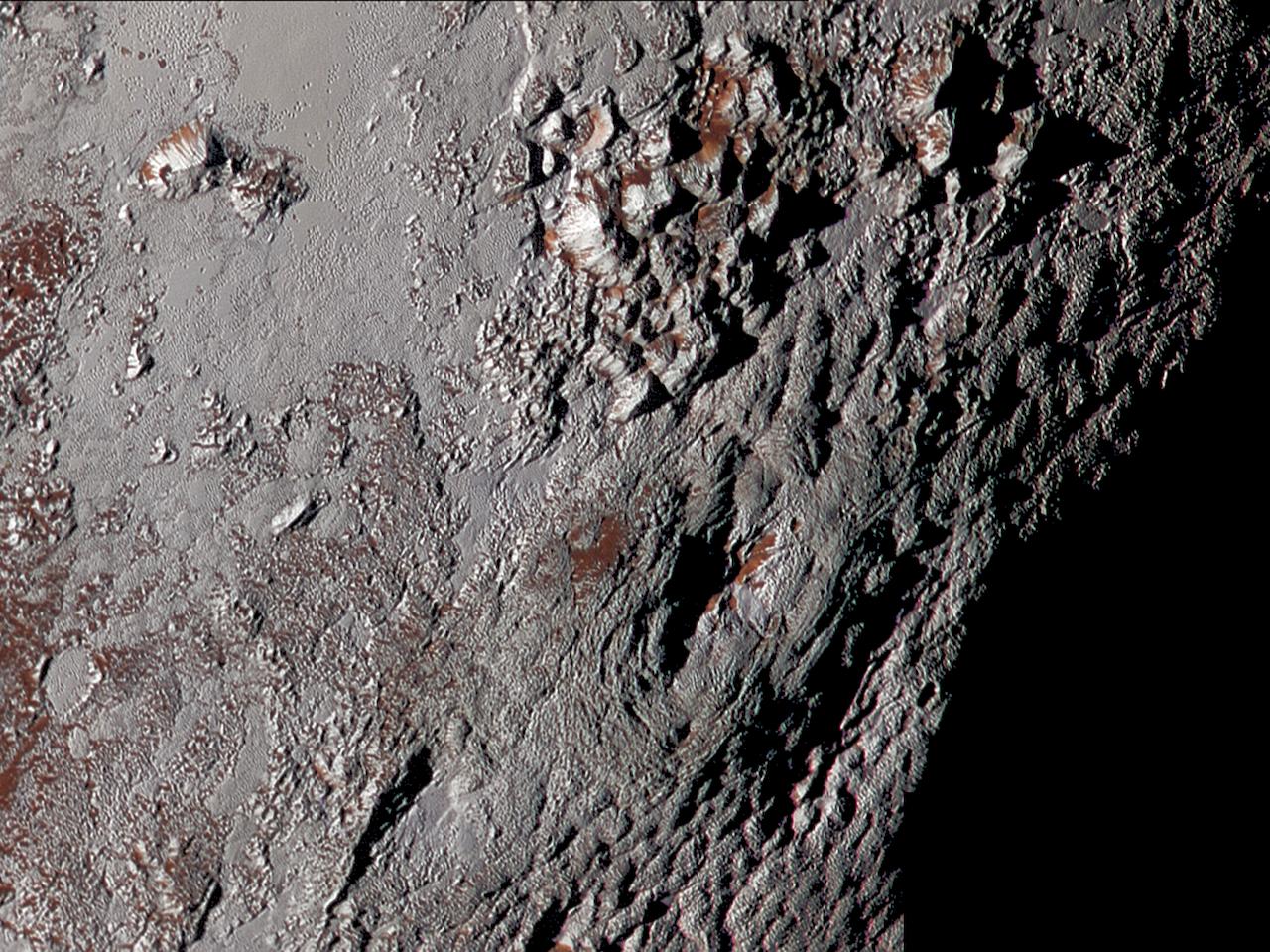 roches à la surface
