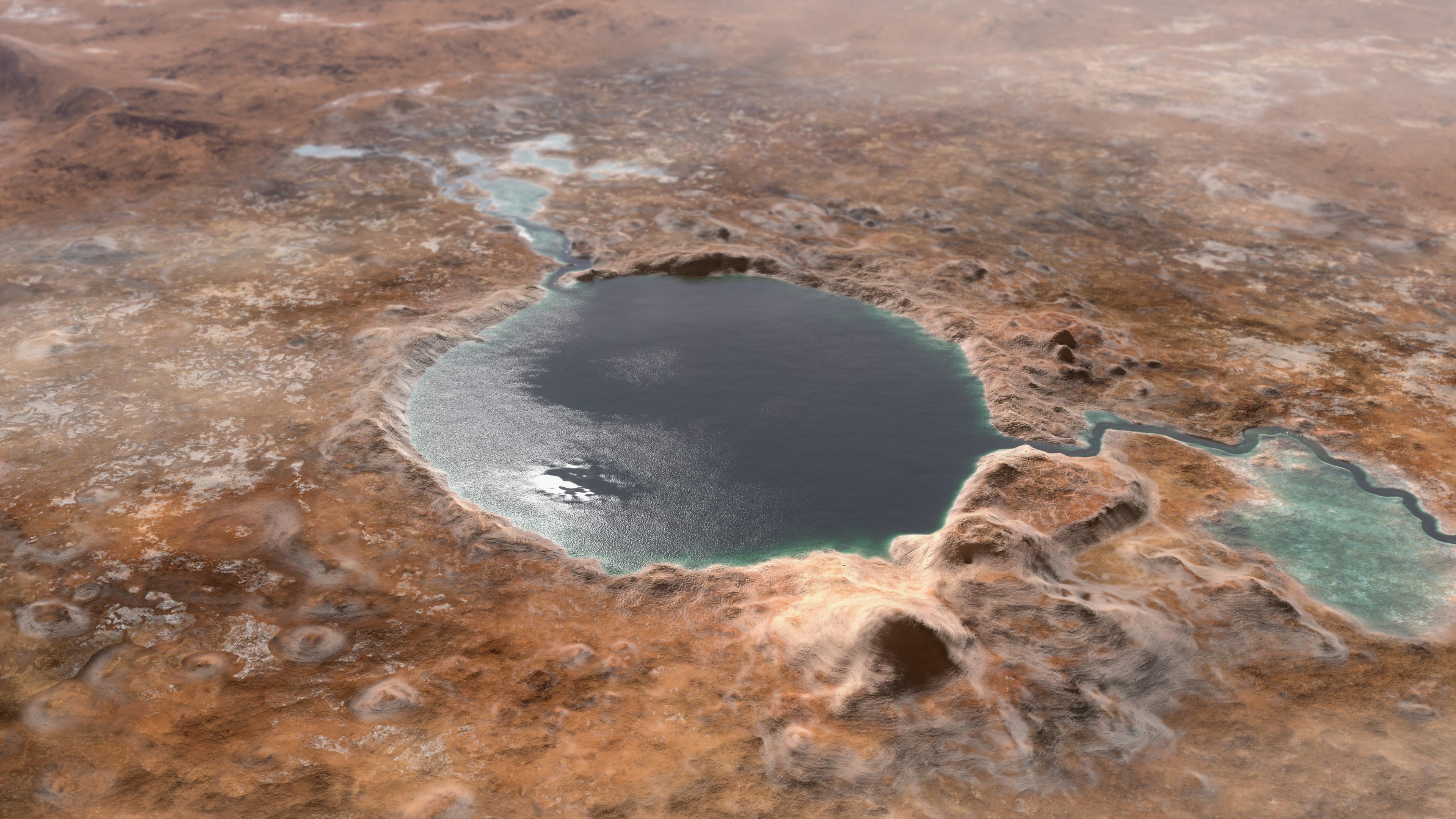 mission de retour d'échantillons de mars Jezero Crater