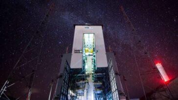 La Voie Lactée Illumine Le Port Spatial Guyanais Dans Une