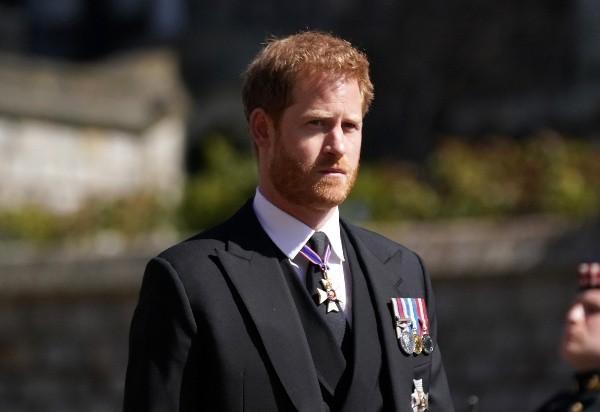 Le prince Harry aux funérailles de Philippe d'Édimbourg.  Photo: (Getty)