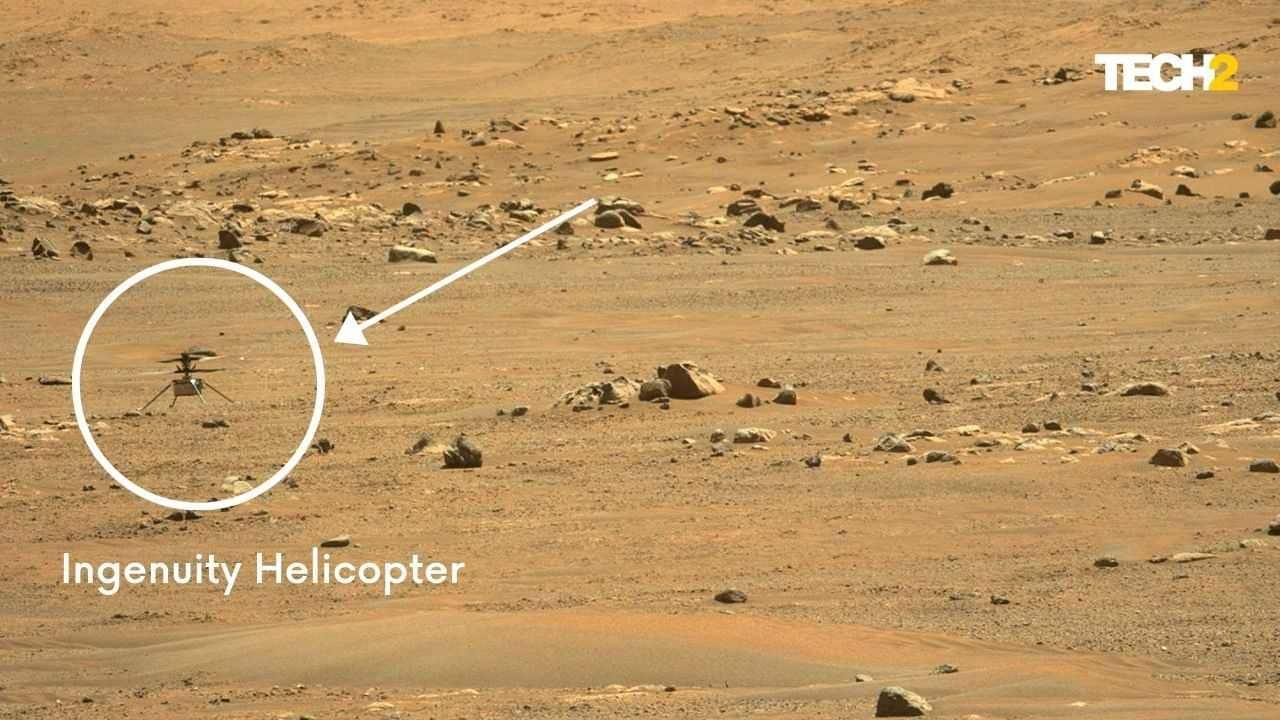 Hélicoptère d'ingéniosité sur Mars.  Crédit d'image: Tech2 / Abigail Banerji / NASA
