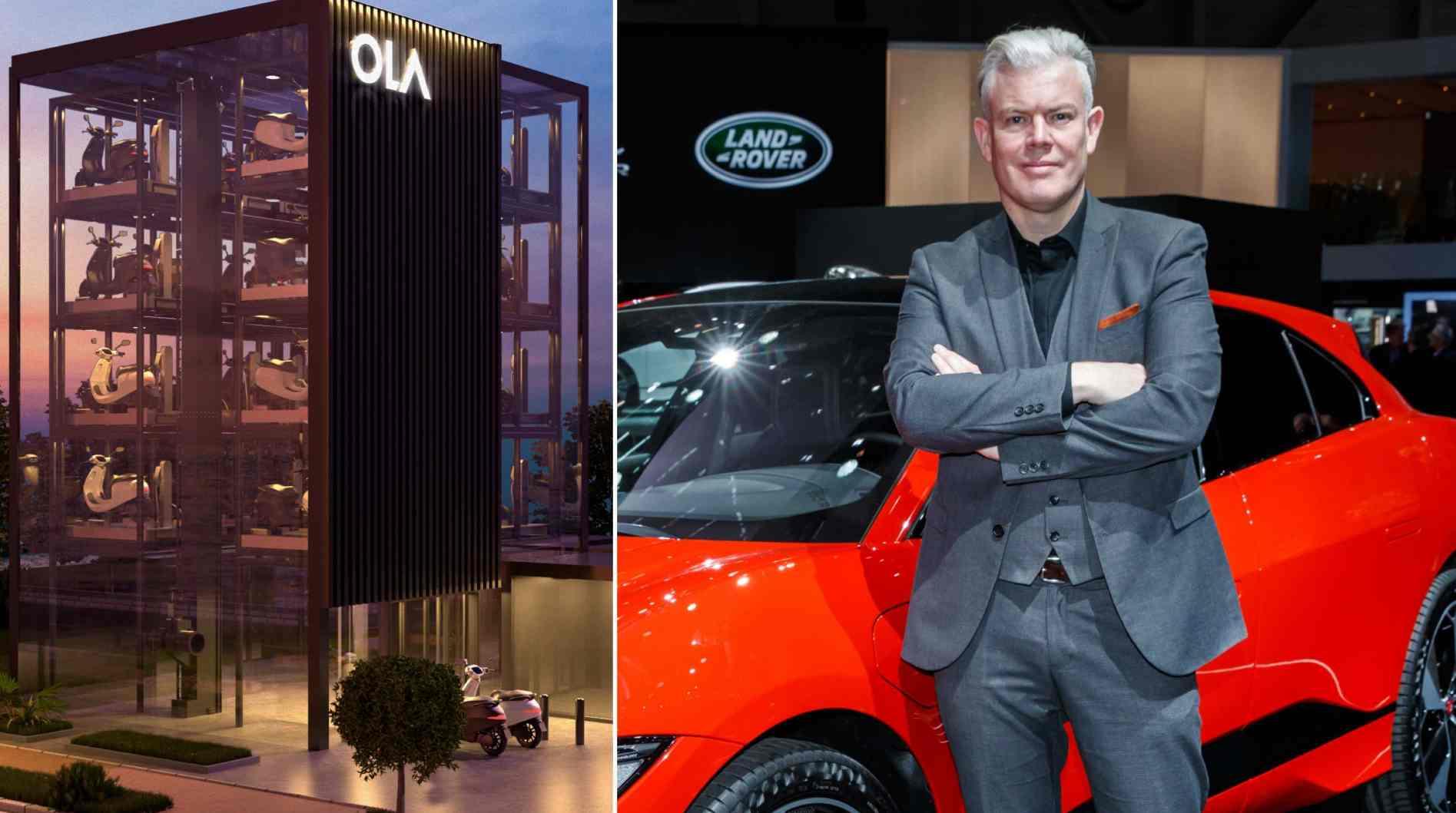 Burgess dirigera le processus de conception de l'ensemble de la gamme de produits d'Ola Electric, y compris les scooters, les vélos, les voitures et plus encore, a déclaré la société dans un communiqué.  Image: Ola Electric / Jaguar / Tech2