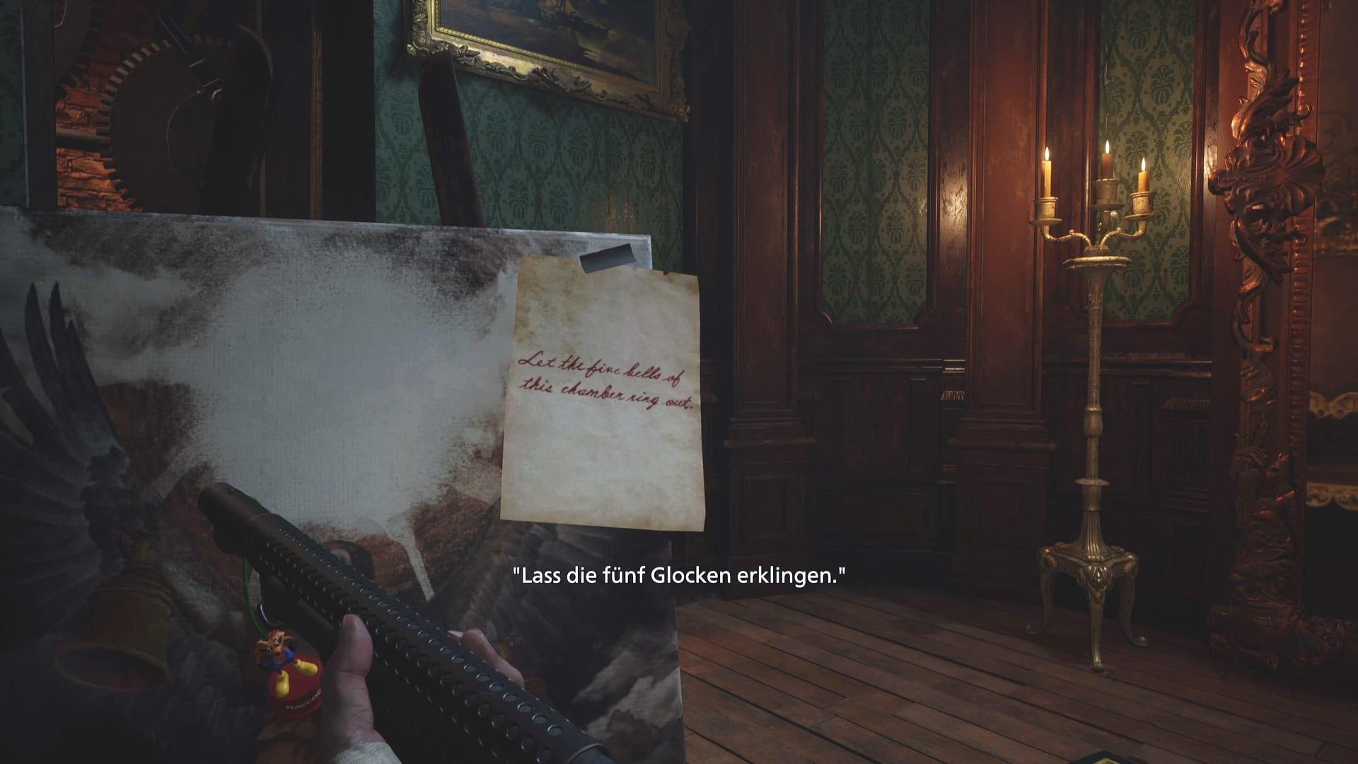 Énigme de cloche dans Resident Evil 8