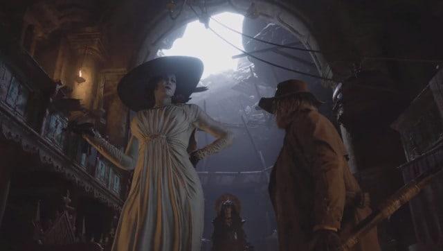 Lady Dimitrescu (oui, cette dame Dimitrescu) et Karl Heisenberg se disputent pour savoir qui peut me manger.  Yay!  Capture d'écran de Resident Evil: Village