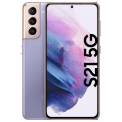 Vue avant du Galaxy S21 5G violet 1