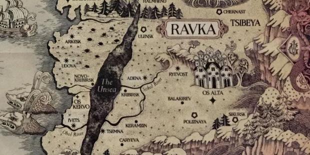 Localisation de Ravka sur la carte Grishaverse.  (Photo: Leigh Bardugo)