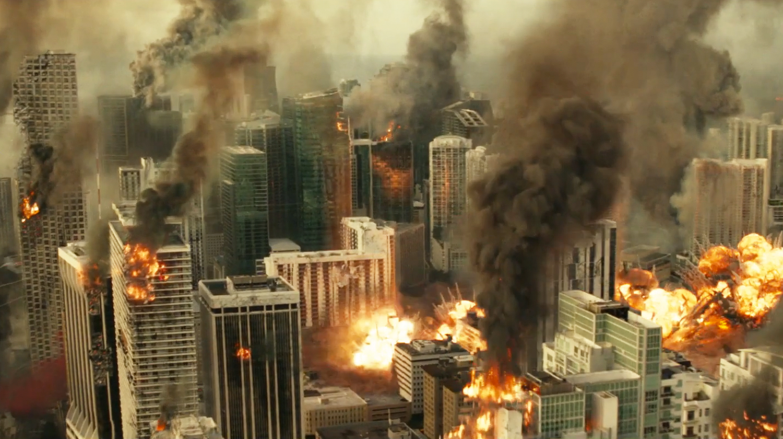 """La planète Terre n'a pas l'air d'être en pleine forme en 2051 en """"La guerre de demain"""" sur Amazon Prime."""