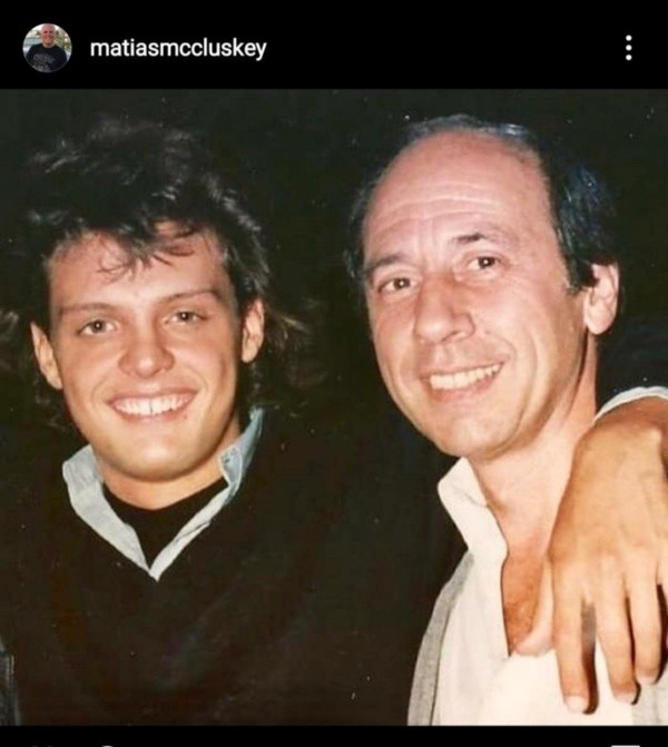 Álex McCluskey et Luis Miguel en Argentine.  Photo: (@matiasmccluskey)