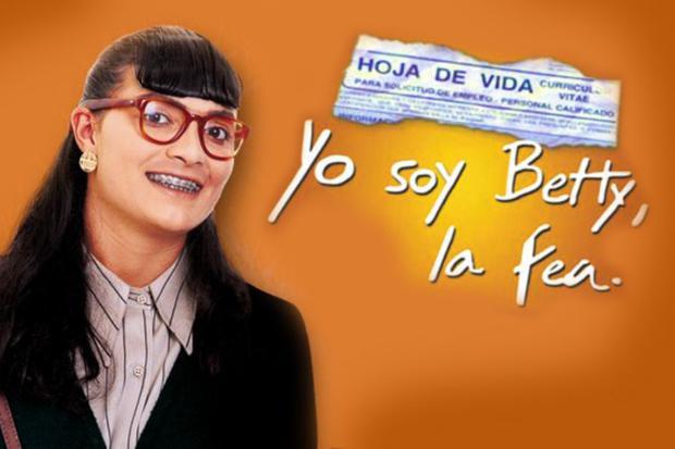 """""""Yo soy Betty, la fea"""", ou simplement """"Betty, la fea"""", est un feuilleton colombien, créé par RCN Televisión et écrit par Fernando Gaitán, vainqueur du Guinness Records 2010. Il a été créé le 25 octobre 1999 et s"""