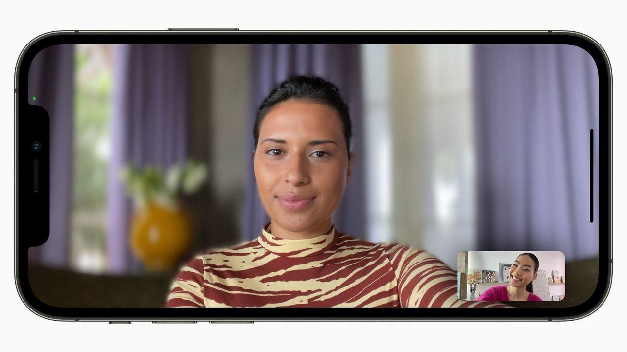 FaceTime pour obtenir un mode portrait.  Image: Pomme