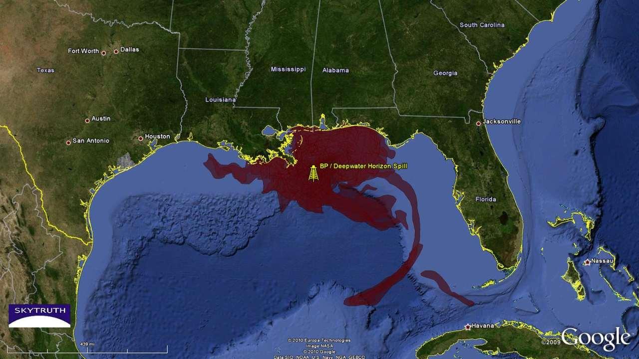 L'océanographe Samantha Joye et son équipe ont découvert un panache sous-marin sinueux qui contenait plus de la moitié de tous les matériaux libérés au cours de l'éruption de 87 jours, invisible pour l'imagerie satellite qui a surveillé le déversement d'en haut.  Crédit image
