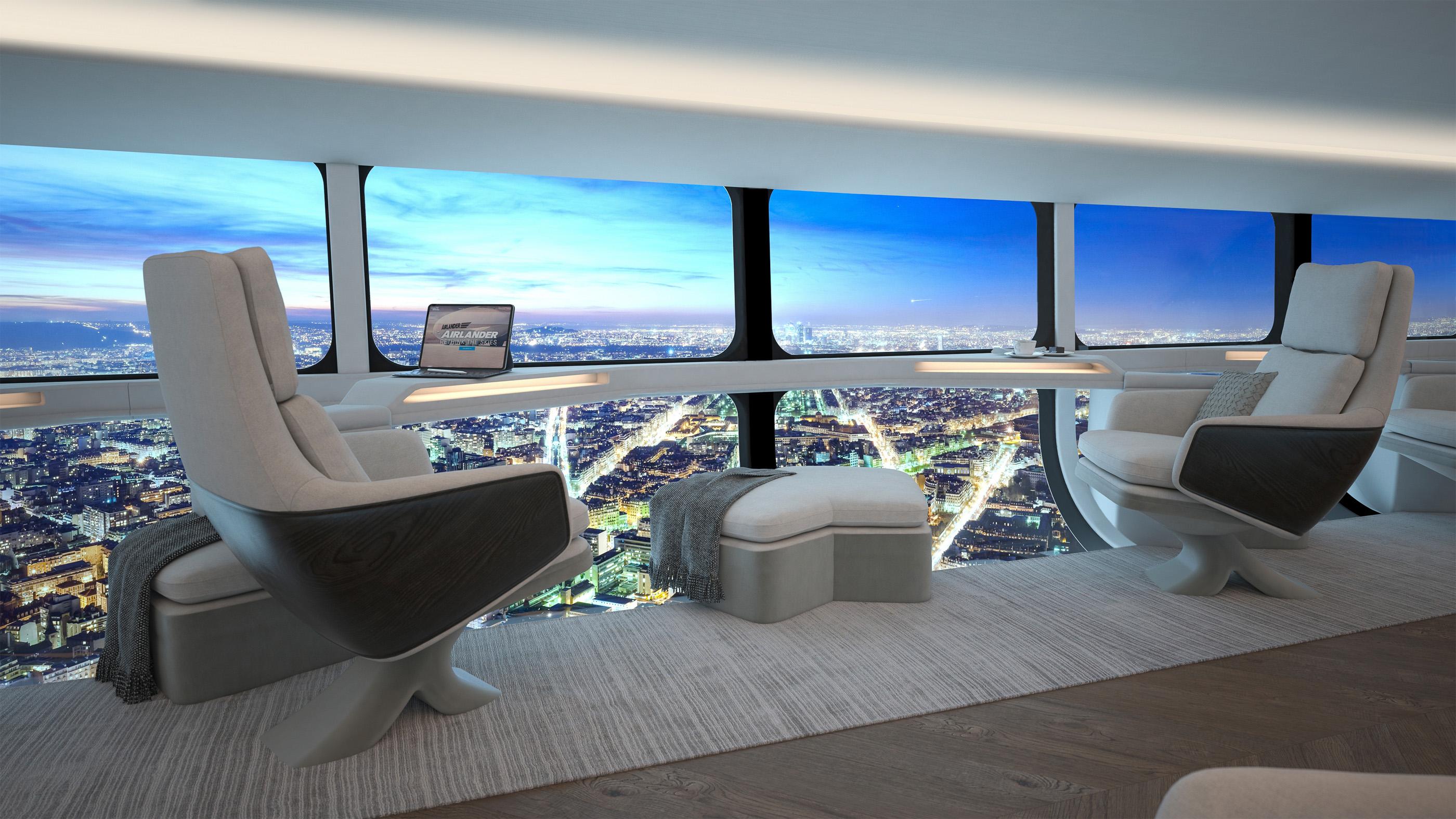 L'Airlander 10 aurait un intérieur spacieux pour des manèges qui pourraient commencer dès 2025.