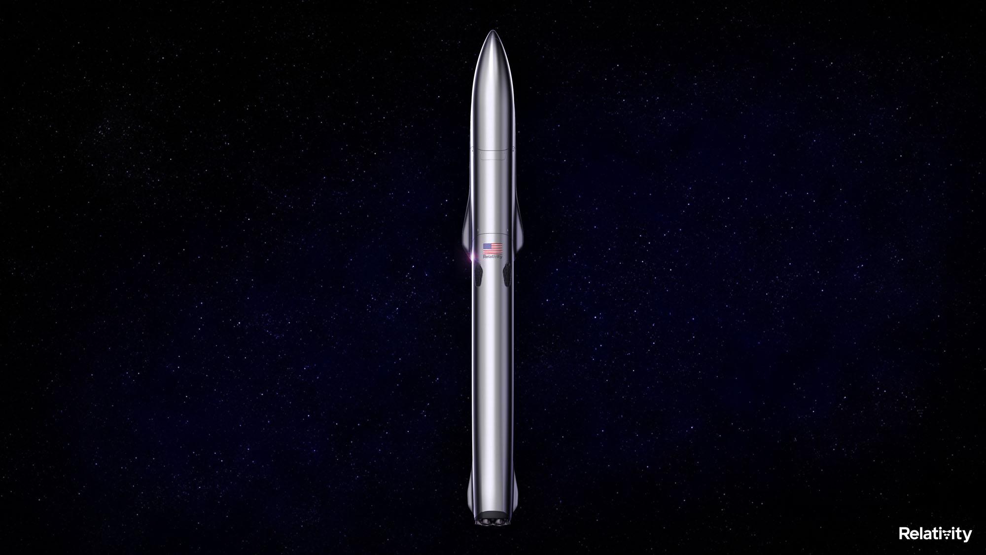 Le nouveau Terran-R de Relativity Space sera une fusée entièrement réutilisable mesurant 216 pieds de haut avec un diamètre de 16 pieds et un carénage de charge utile de 5 mètres.
