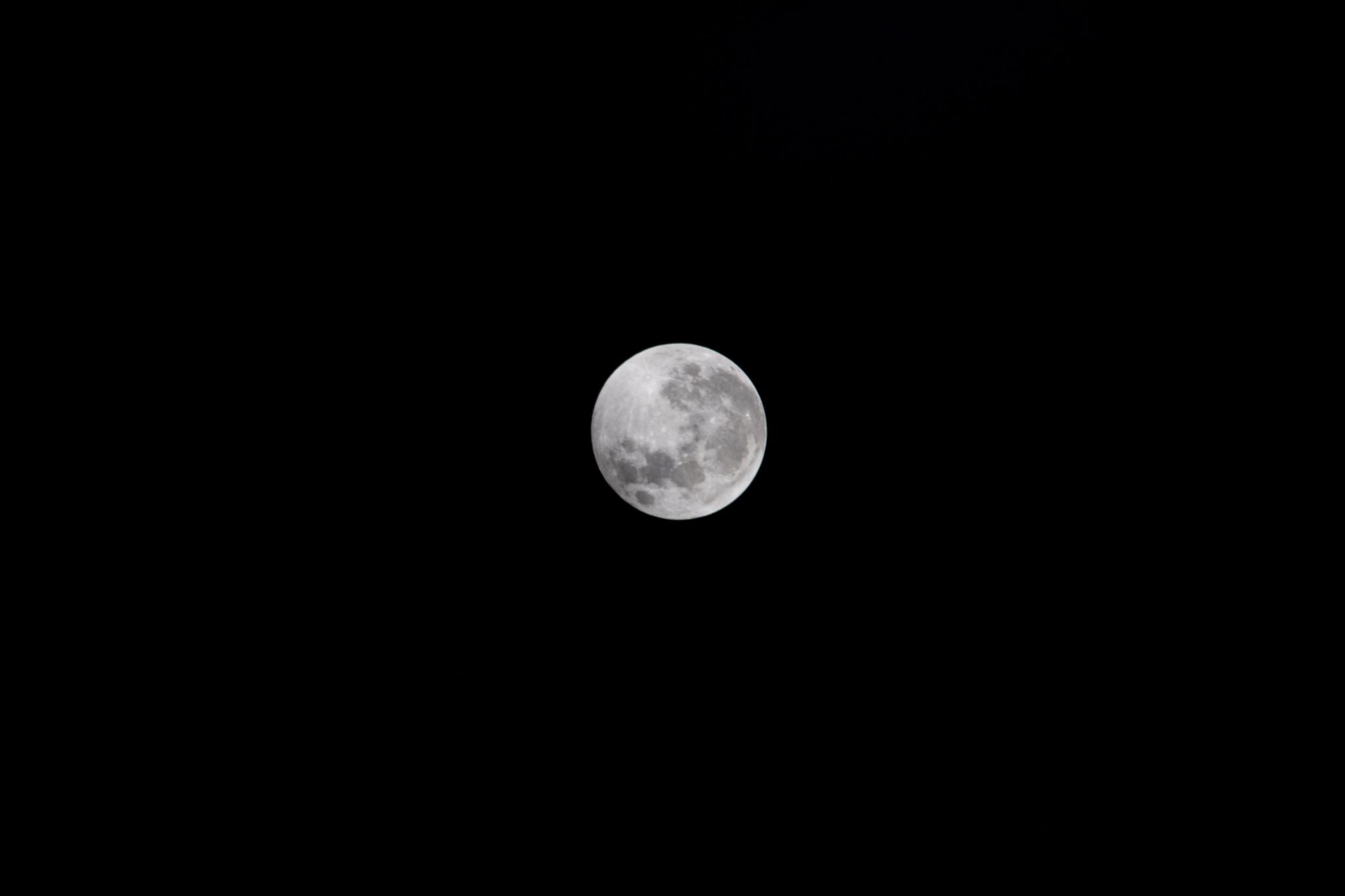 Une vue de la pleine lune depuis l'espace, avant la