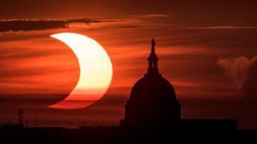 Ces Photos De La Nasa De L'éclipse Solaire Au Lever
