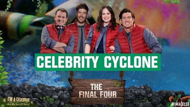 Celebrity Cyclone est toujours le point culminant de la série (Crédit: Twitter/imacelebrity)