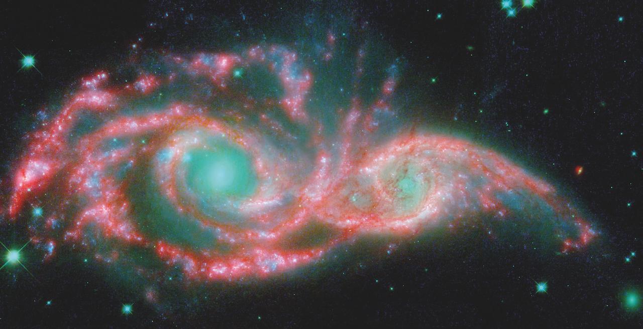 deux galaxies fusionnant