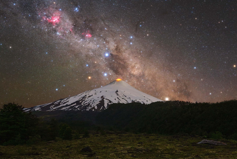 *Volcans et Cross villarrica volcan