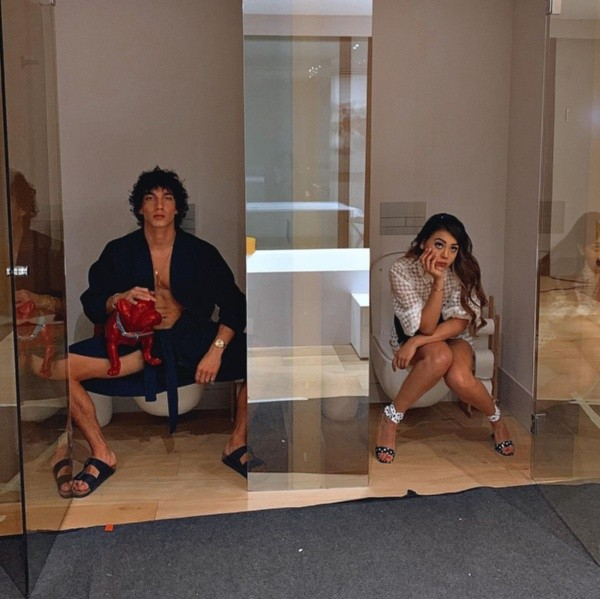 Danna Paola et Jorge Lopez.  Photo: (@dannapaola)
