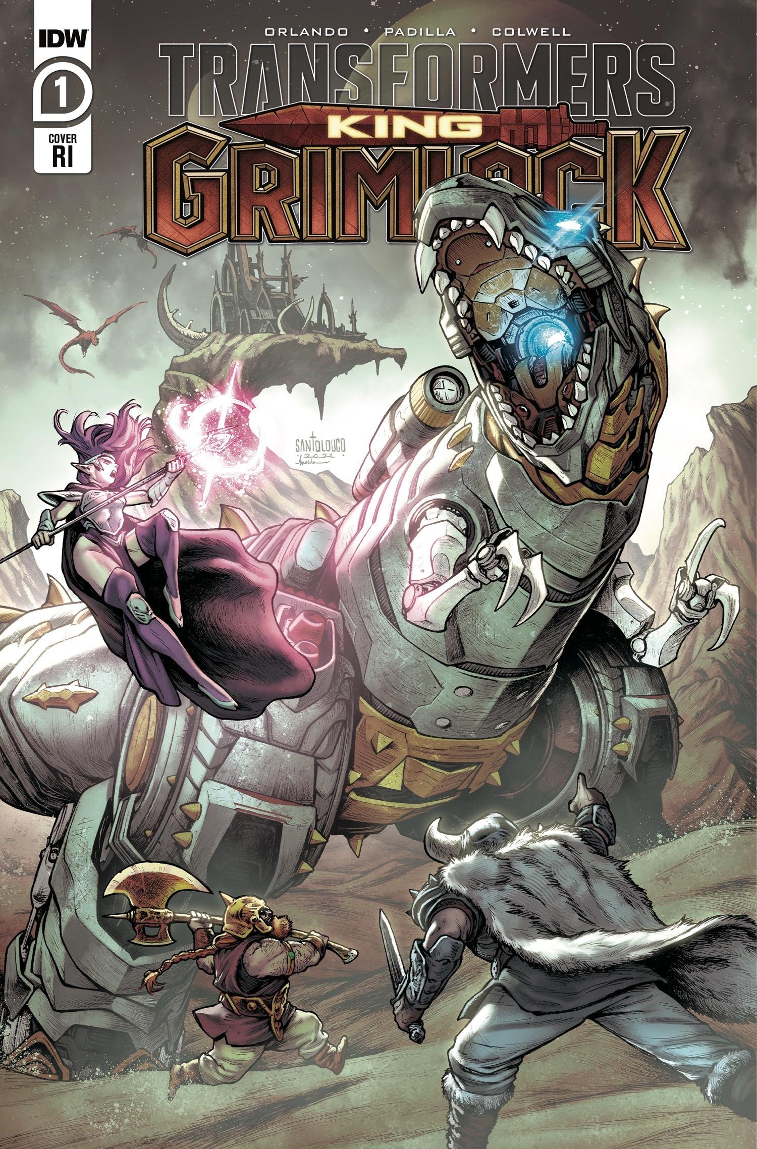Grimlock, cet adorable (et terrifiant) robot spatial transformateur T-rex, jouera dans sa propre mini-série de bandes dessinées Transformers pour l'été 2021.