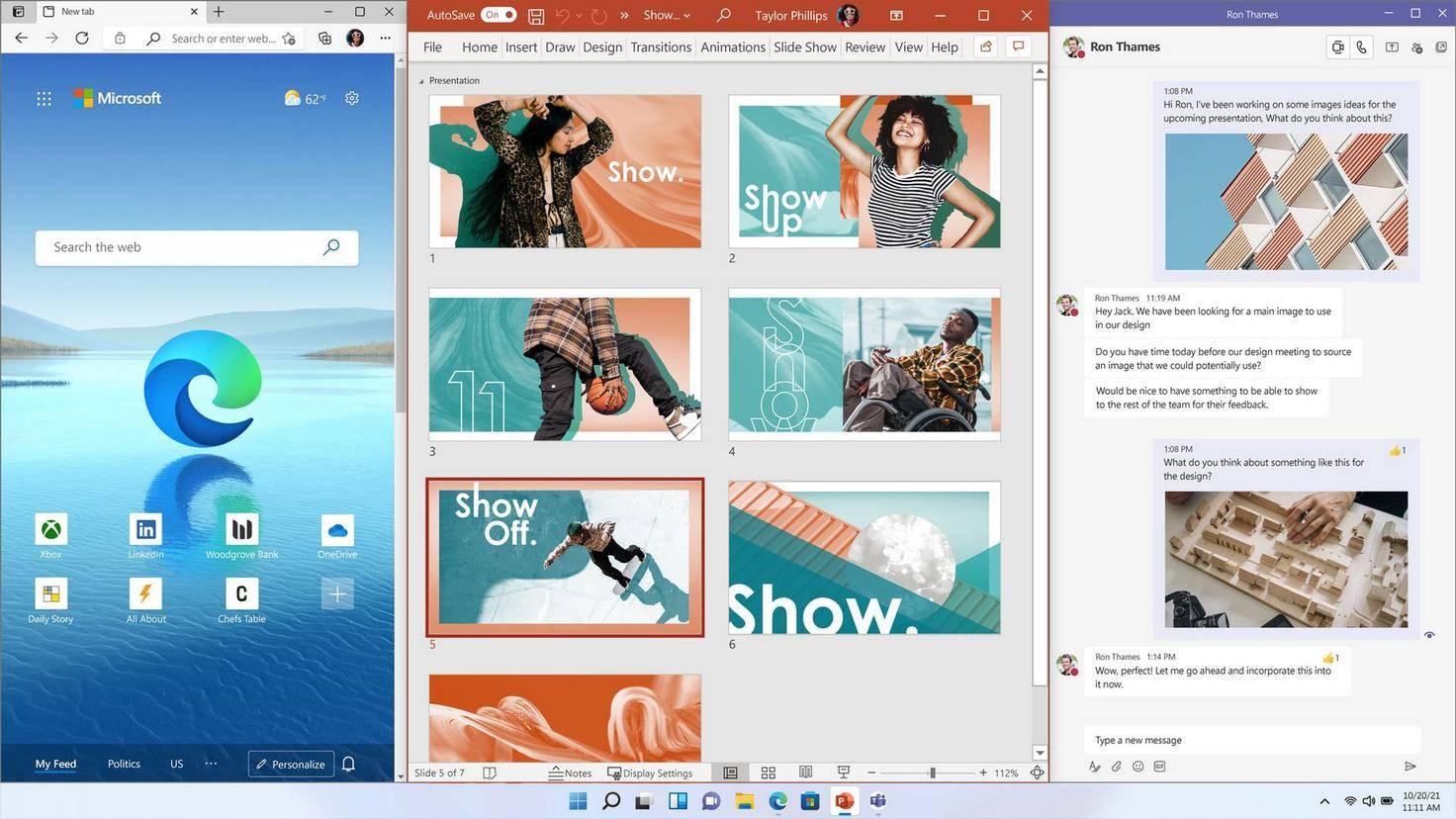 Bureau instantané de Windows 11