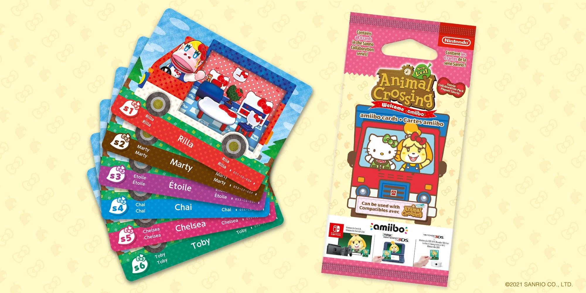 Cartes Sanrio Animal Crossing New Horizons