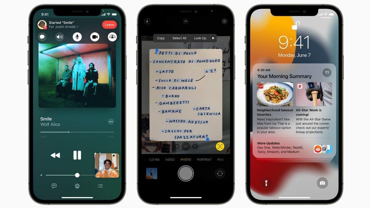 iOS 15 obtient un résumé des notifications, un nouveau mode de mise au point, SharePlay, et plus encore.  Image: Pomme