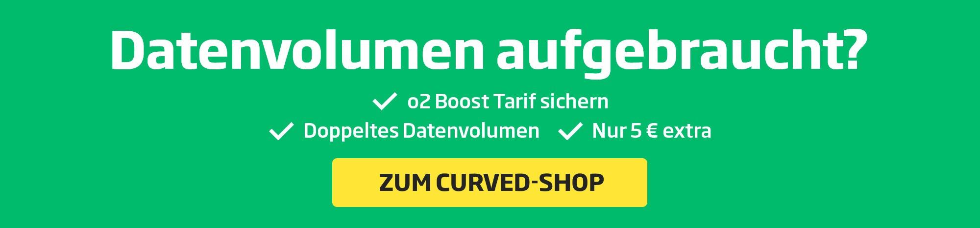 CURVED Banner volume de données utilisé
