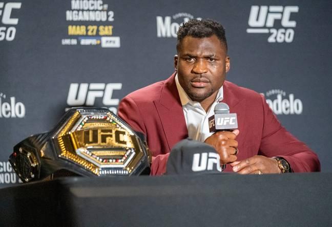Francis Ngannou de l'UFC.  Crédit : PA