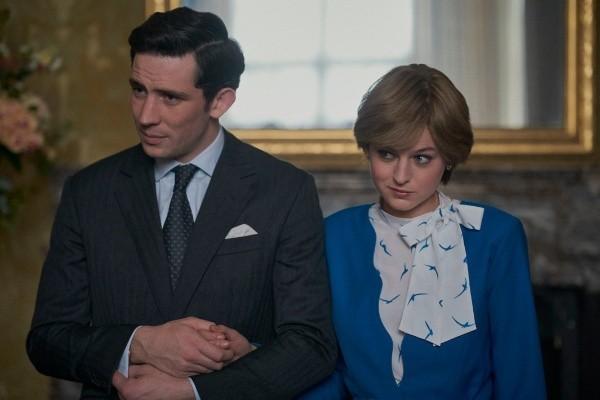Lady Di et le prince Charles représentés dans The Crown.  Photo: (Netflix)