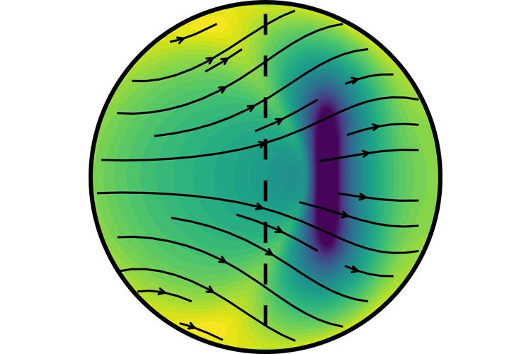Un nouveau modèle des sismologues de l'UC Berkeley propose que le noyau interne de la Terre se développe plus rapidement du côté est (à gauche) que du côté ouest.