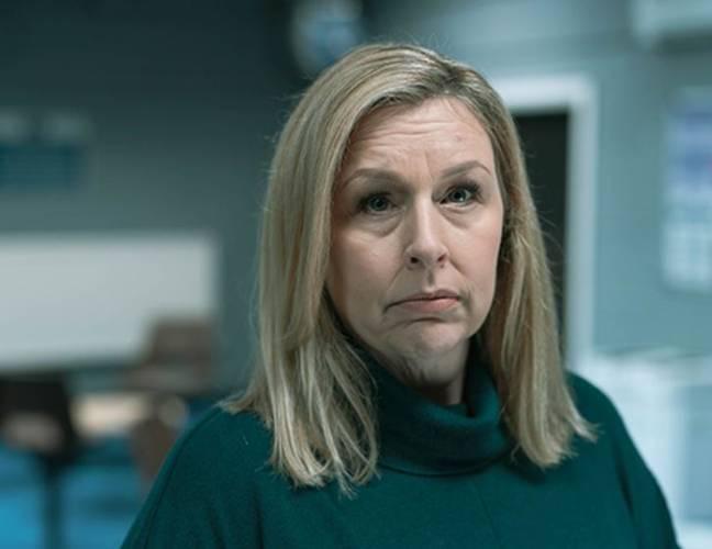 Hannah Walters incarne la femme à l'écran de Stephen Graham dans Time.  Crédit : BBC