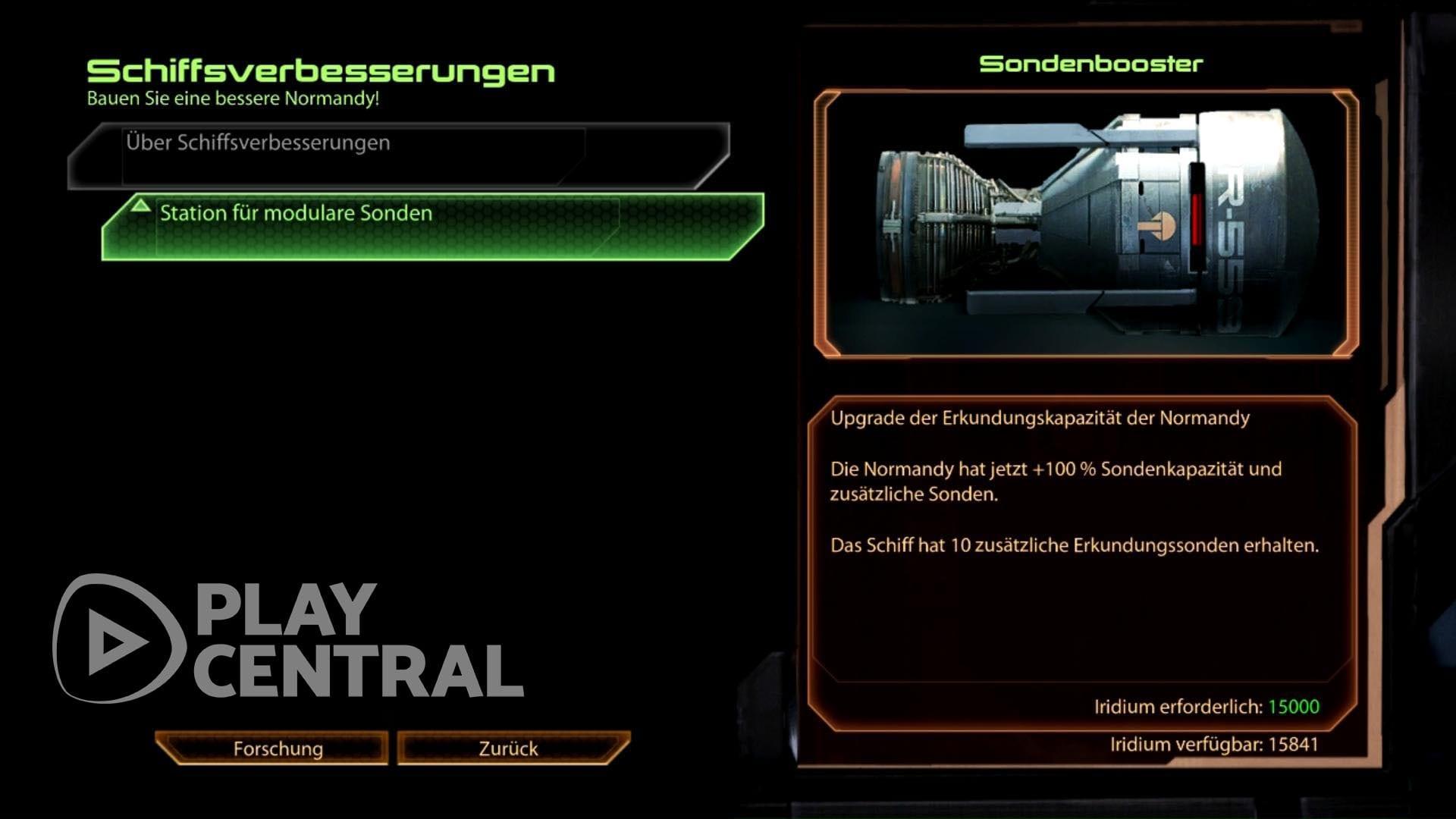Mise à niveau de la sonde Mass Effect 2