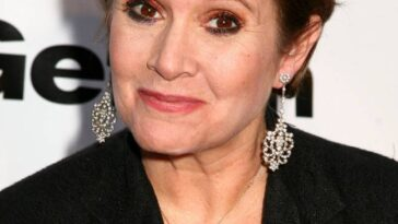 Carrie Fisher animait le rassemblement.  Crédit : PA