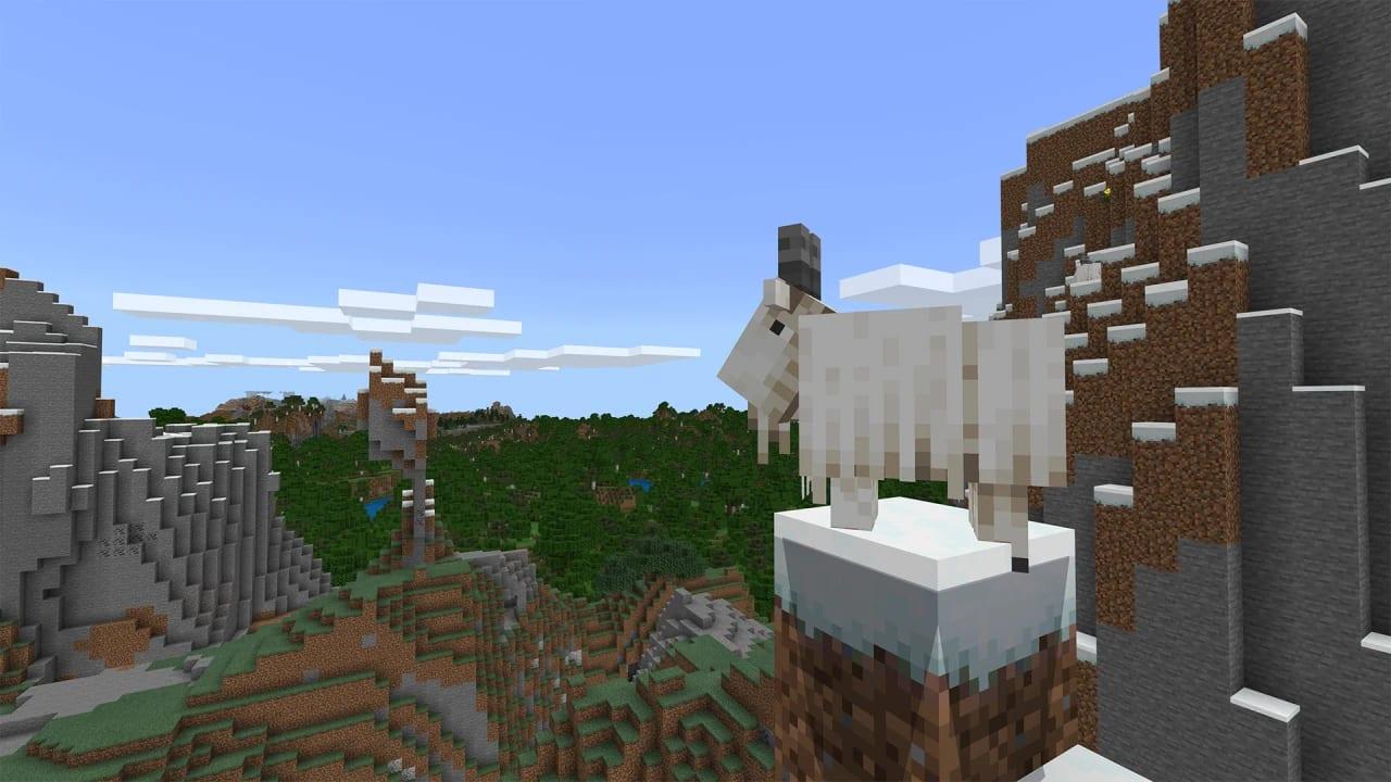 Minecraft 1.17 release partie 1 chèvre