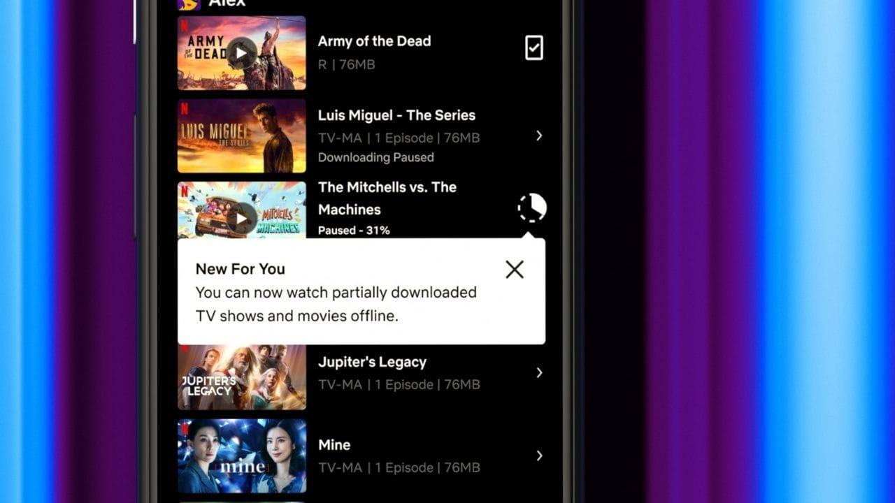 La fonction de téléchargement partiel de Netflix est désormais disponible pour les utilisateurs d'Android.