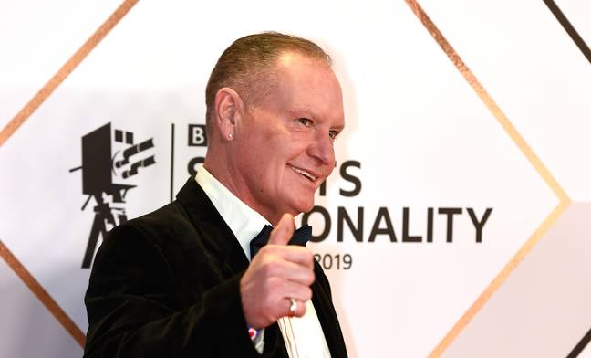 Paul Gascoigne aux BBC Sports Personality of the Year Awards 2021 (Crédit: PA)