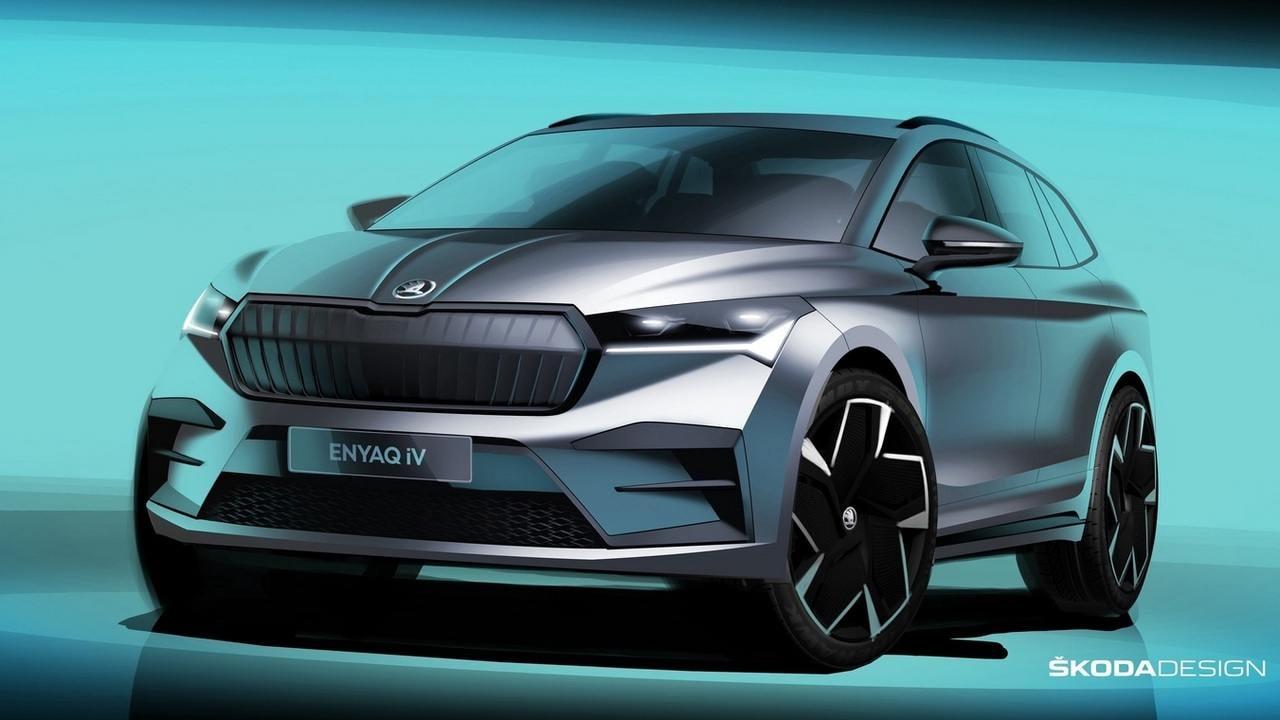 Les prochains véhicules électriques de Skoda seront tous positionnés sous le crossover Enyaq iV.  Image : Skoda