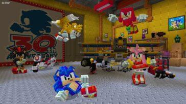 Sonic the Hedgehog fête son anniversaire avec Minecraft Pack