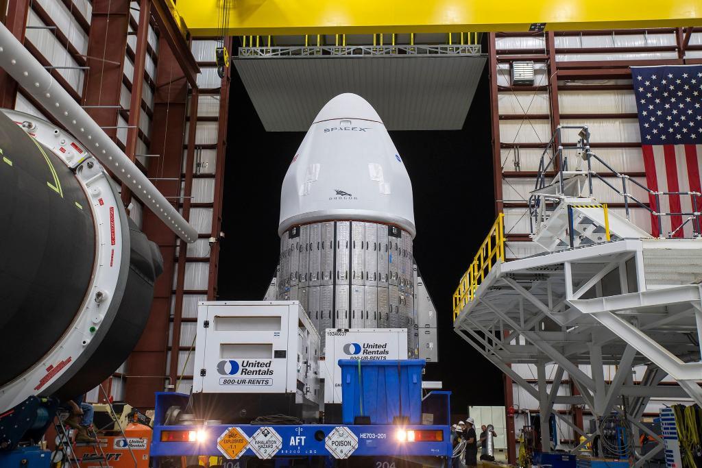 Le cargo SpaceX Dragon pour la mission de ravitaillement CRS-22 pour la NASA est prêt pour un lancement le 3 juin 2021 au Kennedy Space Center de la NASA en Floride.