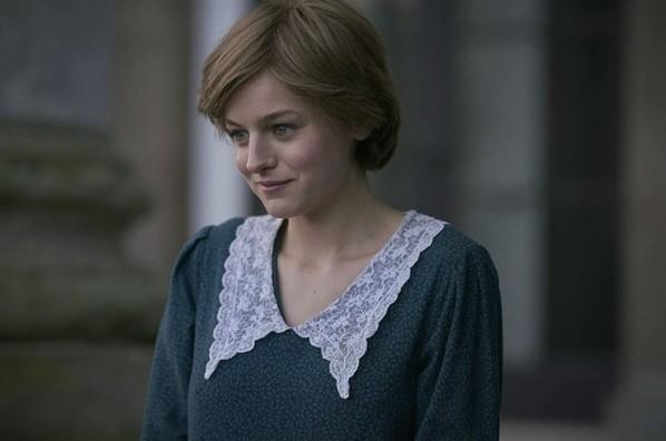 Emma Corrin dans son rôle de Lady Di.  Photo: (IMDB)