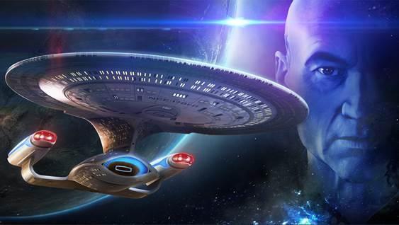 Le capitaine Jean-Luc Picard se diffuse dans le jeu mobile Star Trek Fleet Command pour Captain Picard Day en juin 2021.