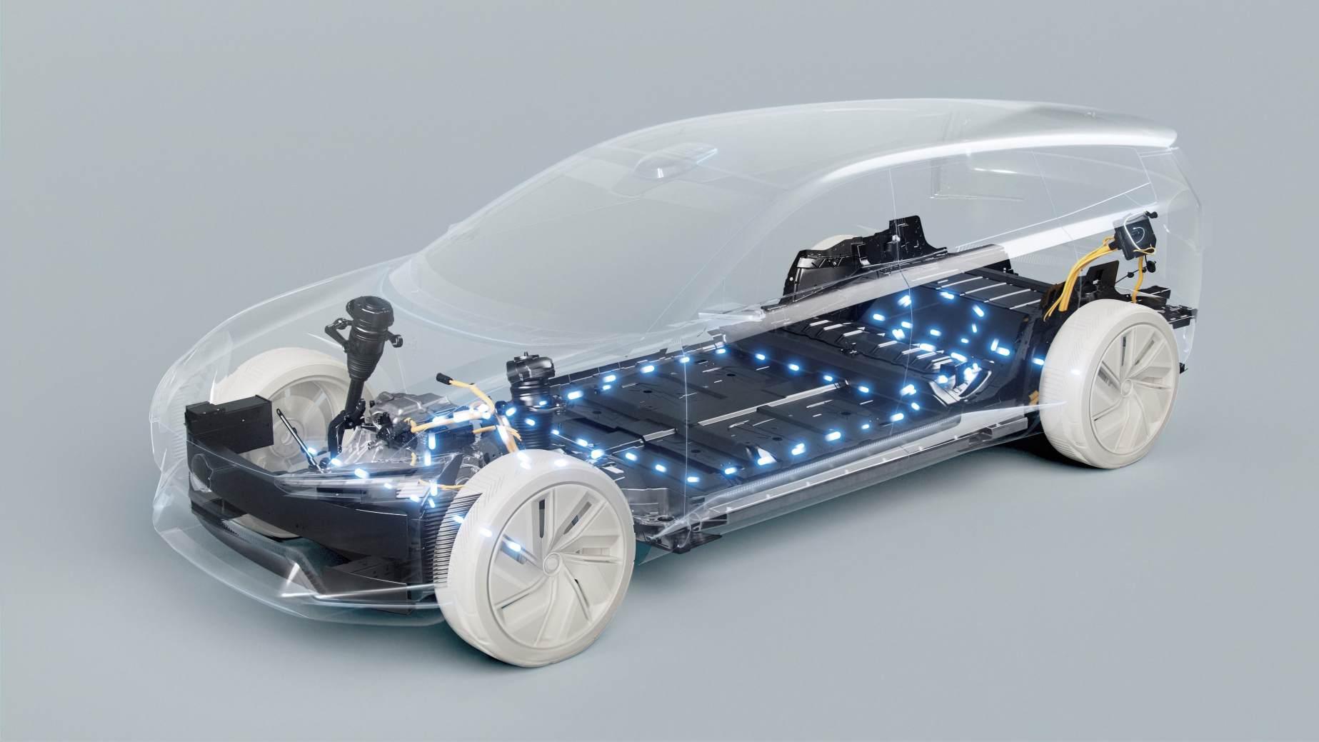 En collaboration avec Northvolt, Volvo vise à atteindre une autonomie réelle de 1 000 km pour ses véhicules électriques de troisième génération.  Image : Volvo