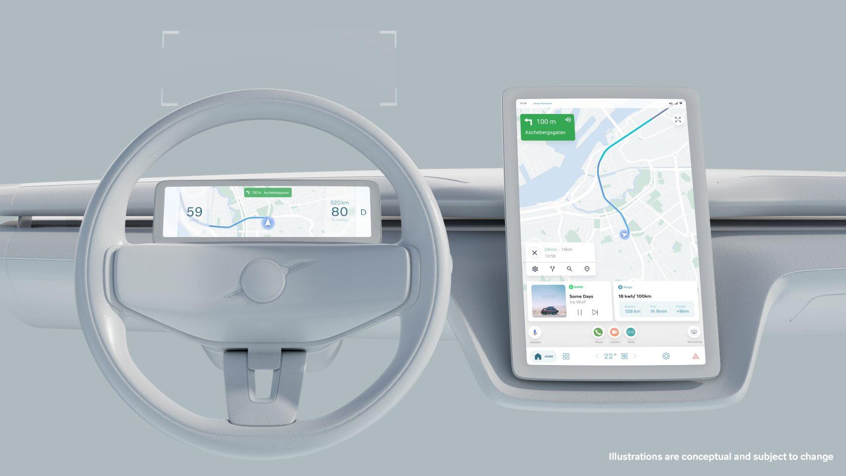Avec son propre système d'exploitation, Volvo vise à déployer des mises à jour OTA plus rapides et plus fréquentes pour améliorer les véhicules tout au long de leur durée de vie.  Image : Volvo