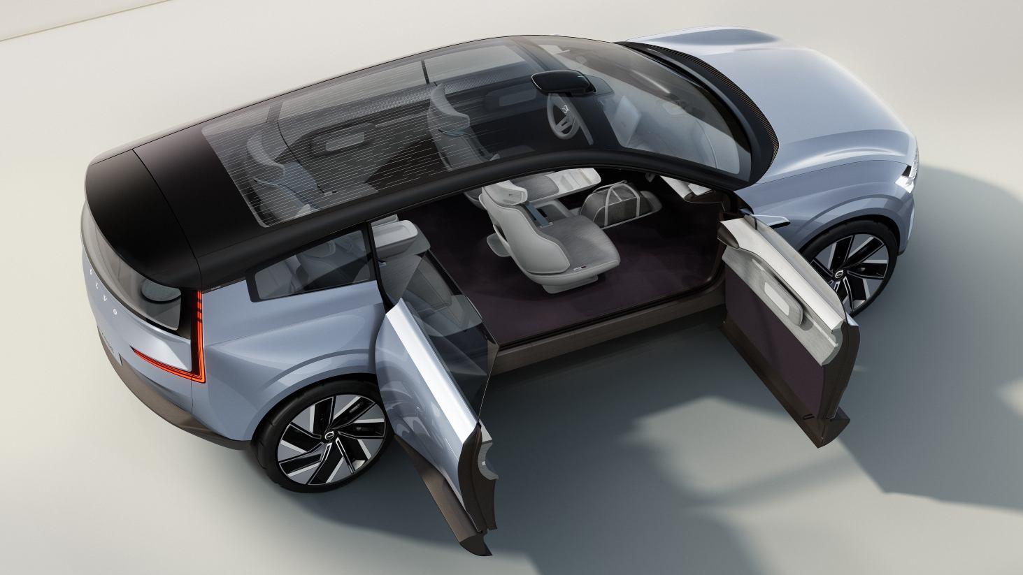 Le Concept Recharge est doté de portes arrière à charnières arrière.  Image : Volvo
