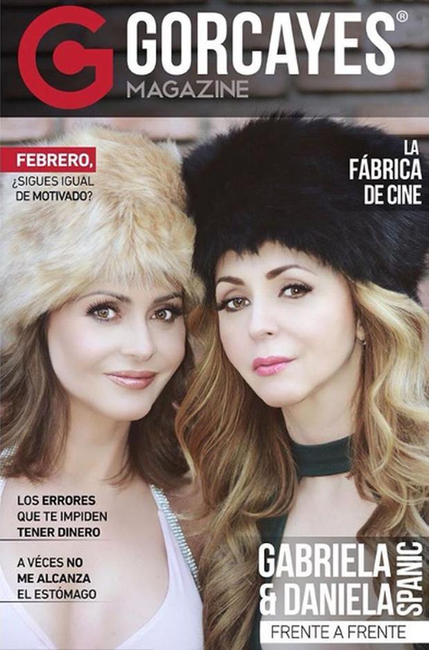 Gabriela Spanic avec sa sœur en couverture d'un magazine (Photo : Couverture du magazine Gorcayes)
