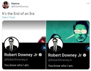 Le tweet qui a découvert le changement de photo de Twitter.